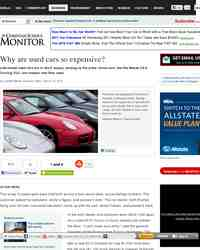 Why are used cars so expensive: Christian Science Monitor